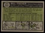 1961 Topps #553  Bill Fischer  Back Thumbnail