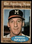 1962 Topps #399   -  Warren Spahn All-Star Front Thumbnail