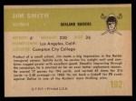 1961 Fleer #192  Jim Smith  Back Thumbnail