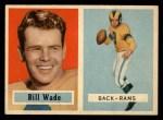 1957 Topps #34  Bill Wade  Front Thumbnail