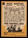 1967 Topps #77  Rick Norton  Back Thumbnail