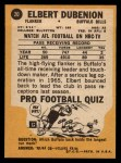 1967 Topps #20  Elbert Dubenion  Back Thumbnail