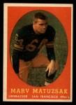 1958 Topps #79  Marv Matuszak  Front Thumbnail