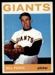 1964 Topps #222  Bill Pierce  Front Thumbnail