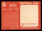 1958 Topps #102  Roosevelt Brown  Back Thumbnail