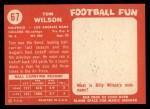 1958 Topps #67  Tom Wilson  Back Thumbnail