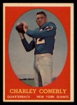 1958 Topps #84  Charley Conerly  Front Thumbnail