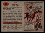 1957 Topps #52  Ken Konz  Back Thumbnail