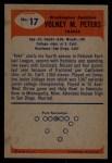 1955 Bowman #17  Volney Peters  Back Thumbnail