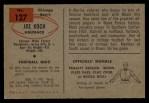 1954 Bowman #127  Joe Koch  Back Thumbnail