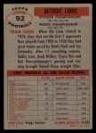 1956 Topps #92   Lions Team Back Thumbnail