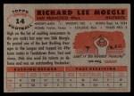 1956 Topps #14  Dick Moegle  Back Thumbnail