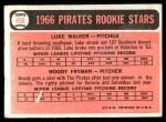 1966 Topps #498   -  Woody Fryman / Luke Walker Pirates Rookies Back Thumbnail