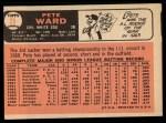 1966 Topps #25  Pete Ward  Back Thumbnail