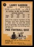 1967 Topps #4  Larry Garron  Back Thumbnail