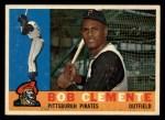 1960 Topps #326  Roberto Clemente  Front Thumbnail