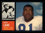 1962 Topps #60  Dick Lane  Front Thumbnail