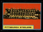 1962 Topps #138   Steelers Team Front Thumbnail