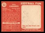 1958 Topps #53  Rick Casares  Back Thumbnail