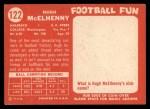 1958 Topps #122  Hugh McElhenny  Back Thumbnail