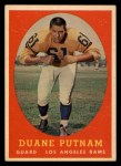 1958 Topps #55  Duane Putnam  Front Thumbnail