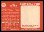 1958 Topps #25  Leo Elter  Back Thumbnail