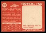 1958 Topps #20  Jon Arnett  Back Thumbnail