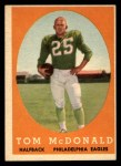 1958 Topps #126  Tom McDonald  Front Thumbnail