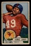 1951 Bowman #20  Tom Landry  Front Thumbnail