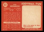 1958 Topps #83  Don Heinrich  Back Thumbnail