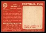1958 Topps #56  Gary Knafelc  Back Thumbnail