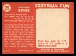 1958 Topps #29   Bears Team Back Thumbnail