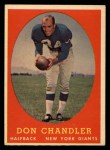 1958 Topps #54  Don Chandler  Front Thumbnail