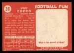1958 Topps #36  Vic Zucco  Back Thumbnail