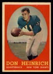 1958 Topps #83  Don Heinrich  Front Thumbnail