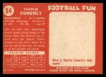 1958 Topps #84  Charley Conerly  Back Thumbnail