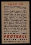 1951 Bowman #5  Woody Lewis  Back Thumbnail