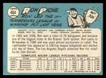1965 Topps #464  Ron Piche  Back Thumbnail
