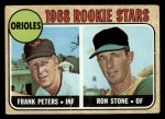 1968 Topps #409   -  Frank Peters / Ron Stone Orioles Rookies Front Thumbnail