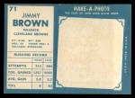 1961 Topps #71  Jim Brown  Back Thumbnail