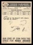 1959 Topps #150  Eddie LeBaron  Back Thumbnail