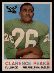 1959 Topps #8  Clarence Peaks  Front Thumbnail