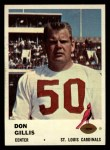 1961 Fleer #25  Don Gillis  Front Thumbnail