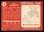 1958 Topps #4  Bill Barnes  Back Thumbnail