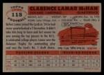 1956 Topps #118  Lamar McHan  Back Thumbnail