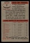 1956 Topps #7   Packers Team Back Thumbnail