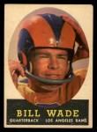 1958 Topps #38  Bill Wade  Front Thumbnail
