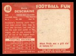 1958 Topps #48  Dick Deschaine  Back Thumbnail