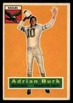 1956 Topps #52  Adrian Burk  Front Thumbnail