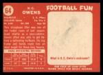 1958 Topps #64  R.C. Owens  Back Thumbnail